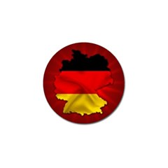 Germany Map Flag Country Red Flag Golf Ball Marker (10 Pack) by Nexatart