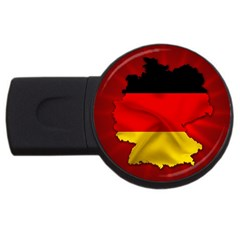 Germany Map Flag Country Red Flag Usb Flash Drive Round (2 Gb) by Nexatart
