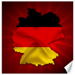 Germany Map Flag Country Red Flag Canvas 12  X 12   by Nexatart