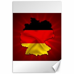 Germany Map Flag Country Red Flag Canvas 12  X 18
