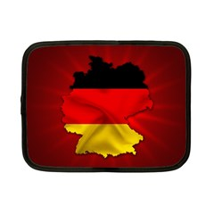 Germany Map Flag Country Red Flag Netbook Case (small)