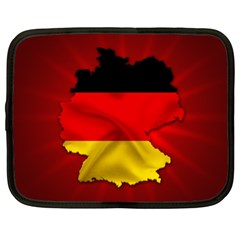 Germany Map Flag Country Red Flag Netbook Case (xl)