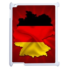 Germany Map Flag Country Red Flag Apple Ipad 2 Case (white) by Nexatart
