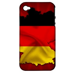 Germany Map Flag Country Red Flag Apple Iphone 4/4s Hardshell Case (pc+silicone)