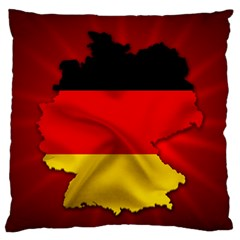 Germany Map Flag Country Red Flag Large Flano Cushion Case (two Sides)