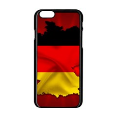Germany Map Flag Country Red Flag Apple Iphone 6/6s Black Enamel Case by Nexatart