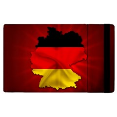 Germany Map Flag Country Red Flag Apple Ipad Pro 12 9   Flip Case