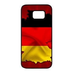Germany Map Flag Country Red Flag Samsung Galaxy S7 Edge Black Seamless Case by Nexatart
