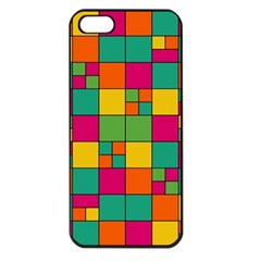 Squares Abstract Background Abstract Apple Iphone 5 Seamless Case (black)