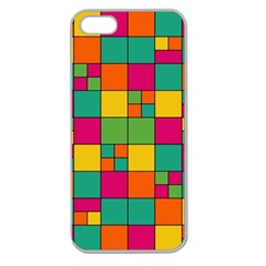 Squares Abstract Background Abstract Apple Seamless Iphone 5 Case (clear)