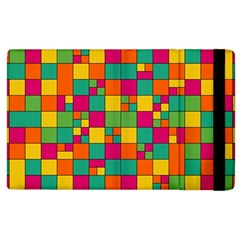 Squares Abstract Background Abstract Apple Ipad 3/4 Flip Case by Nexatart