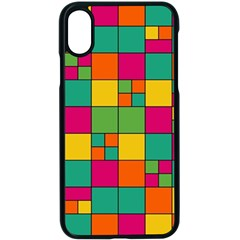 Squares Abstract Background Abstract Apple Iphone X Seamless Case (black)