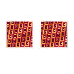3 D Squares Abstract Background Cufflinks (square)