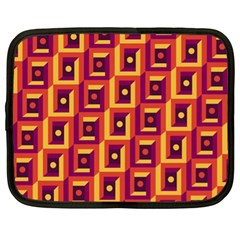 3 D Squares Abstract Background Netbook Case (xl)
