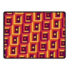 3 D Squares Abstract Background Fleece Blanket (small)