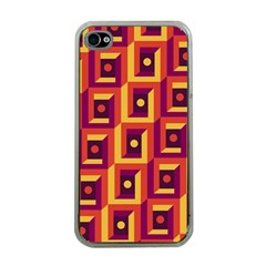 3 D Squares Abstract Background Apple Iphone 4 Case (clear)