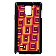 3 D Squares Abstract Background Samsung Galaxy Note 4 Case (black)