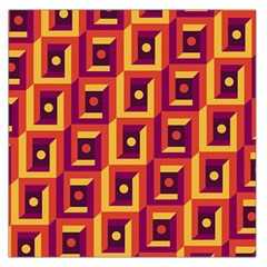 3 D Squares Abstract Background Large Satin Scarf (square)