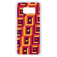 3 D Squares Abstract Background Samsung Galaxy S8 White Seamless Case