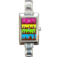 Illustration Abstract Graphic Rectangle Italian Charm Watch by Nexatart