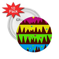 Illustration Abstract Graphic 2 25  Buttons (10 Pack)