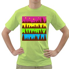 Illustration Abstract Graphic Green T Shirt