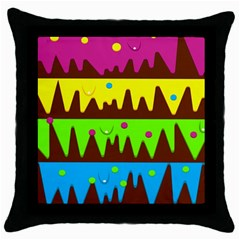 Illustration Abstract Graphic Throw Pillow Case (black) by Nexatart