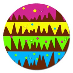 Illustration Abstract Graphic Magnet 5  (round)