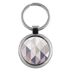Background Geometric Triangle Key Chains (round)  by Nexatart