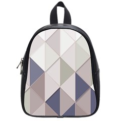 Background Geometric Triangle School Bag (small)