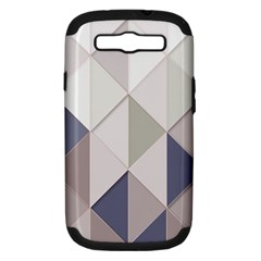 Background Geometric Triangle Samsung Galaxy S Iii Hardshell Case (pc+silicone) by Nexatart