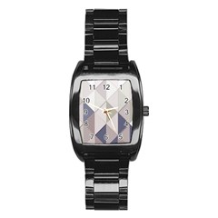 Background Geometric Triangle Stainless Steel Barrel Watch by Nexatart