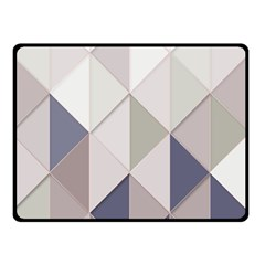 Background Geometric Triangle Double Sided Fleece Blanket (small)  by Nexatart