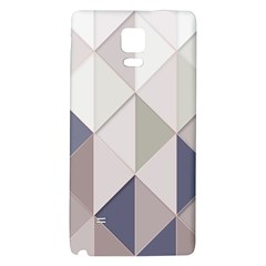Background Geometric Triangle Galaxy Note 4 Back Case by Nexatart