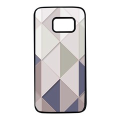 Background Geometric Triangle Samsung Galaxy S7 Black Seamless Case by Nexatart
