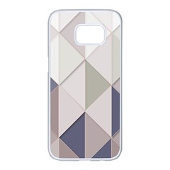 Background Geometric Triangle Samsung Galaxy S7 Edge White Seamless Case