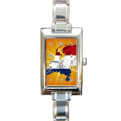 Holland Country Nation Netherlands Flag Rectangle Italian Charm Watch