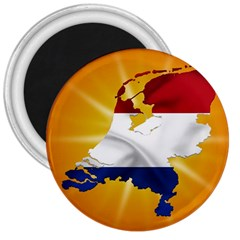 Holland Country Nation Netherlands Flag 3  Magnets by Nexatart