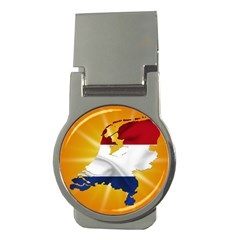 Holland Country Nation Netherlands Flag Money Clips (round)  by Nexatart