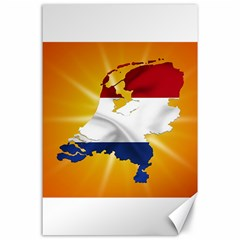 Holland Country Nation Netherlands Flag Canvas 24  X 36  by Nexatart