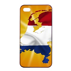 Holland Country Nation Netherlands Flag Apple Iphone 4/4s Seamless Case (black)
