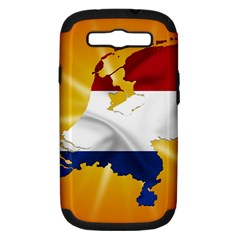 Holland Country Nation Netherlands Flag Samsung Galaxy S Iii Hardshell Case (pc+silicone) by Nexatart
