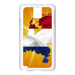 Holland Country Nation Netherlands Flag Samsung Galaxy Note 3 N9005 Case (white)