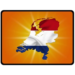 Holland Country Nation Netherlands Flag Double Sided Fleece Blanket (large)