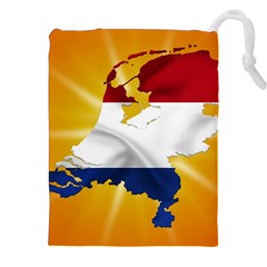 Holland Country Nation Netherlands Flag Drawstring Pouches (xxl) by Nexatart
