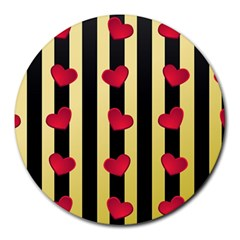 Love Heart Pattern Decoration Abstract Desktop Round Mousepads by Nexatart