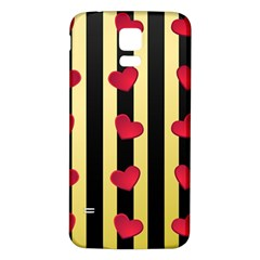 Love Heart Pattern Decoration Abstract Desktop Samsung Galaxy S5 Back Case (white) by Nexatart
