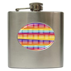 Art Background Abstract Hip Flask (6 Oz)