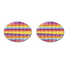 Art Background Abstract Cufflinks (oval)