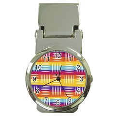 Art Background Abstract Money Clip Watches